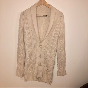 Wilfred Alpaca Wool Blend Cabled Cardigan